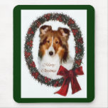 Regalos del navidad de Sheltie del perro pastor de Alfombrilla De Ratones