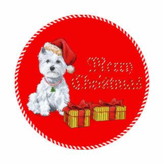 Regalos del navidad de Terrier blanco de montaña d Fotoescultura Vertical