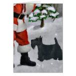Regalos del navidad de Terrier del escocés Felicitaciones