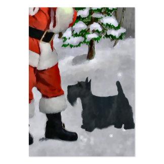 Regalos del navidad de Terrier del escocés Tarjetas De Visita