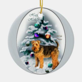 Regalos del navidad de Terrier galés Ornamento Para Arbol De Navidad