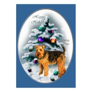 Regalos del navidad de Terrier galés Tarjeta De Negocio