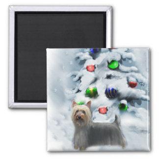 Regalos del navidad de Terrier sedoso Imán Para Frigorifico