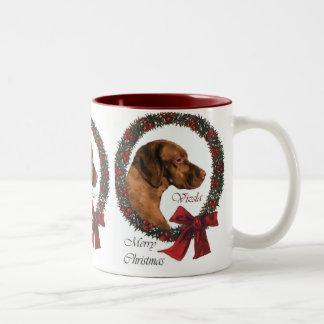 Regalos del navidad de Vizsla Tazas