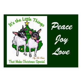 Regalos del navidad del fox terrier del juguete tarjetas de visita grandes
