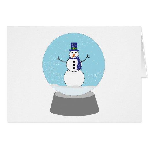 Regalos del navidad del globo de la nieve del muñe tarjeta de felicitación