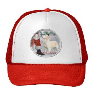 Regalos del navidad del golden retriever gorras de camionero