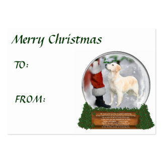 Regalos del navidad del golden retriever plantillas de tarjetas personales