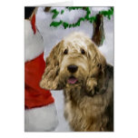 Regalos del navidad del Otterhound Tarjeta