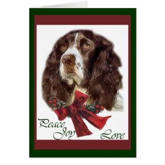 Regalos del navidad del perro de aguas de saltador tarjetas