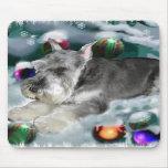 Regalos del navidad del Schnauzer miniatura Tapetes De Raton