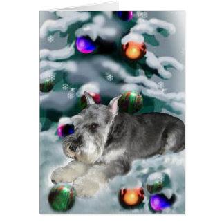 Regalos del navidad del Schnauzer miniatura Felicitacion