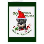 Regalos del navidad del Schnauzer miniatura Tarjeton