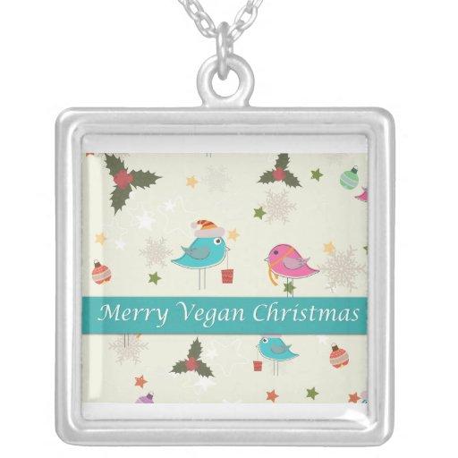Regalos del navidad del vegano colgante cuadrado