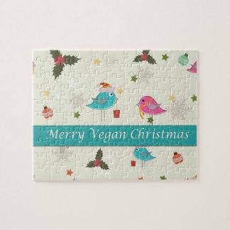 Regalos del navidad del vegano rompecabeza