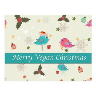 Regalos del navidad del vegano tarjetas postales