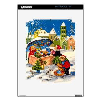 Regalos del navidad en un mercado del navidad iPad 2 skin