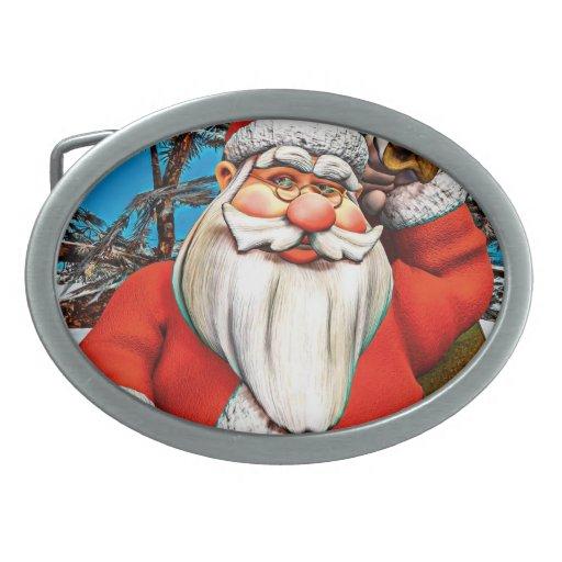 Regalos del navidad hebilla de cinturón oval