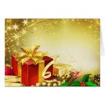 Regalos del navidad tarjeta