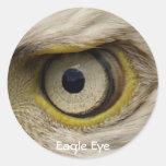 Regalos del ojo de Eagle Pegatina Redonda