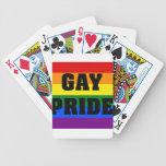 Regalos del orgullo gay baraja de cartas