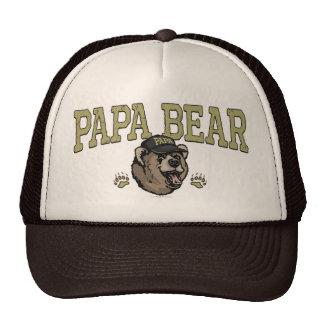 Regalos del oso de la papá para el papá gorros bordados