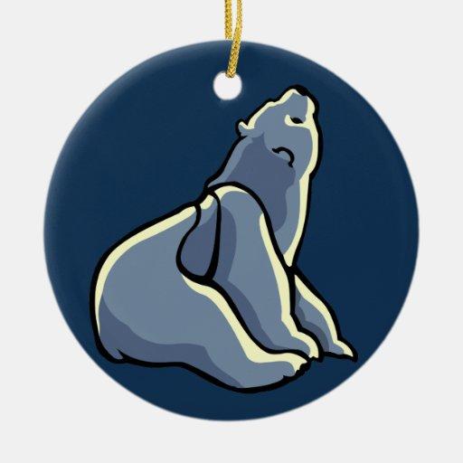 Regalos del oso del recuerdo del oso del ornamento adorno redondo de cerámica