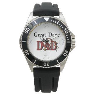 Regalos del papá de great dane reloj de mano