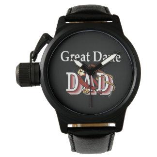 Regalos del papá de great dane relojes de mano