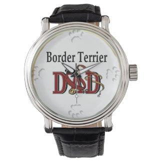 Regalos del papá de Terrier de frontera Relojes De Mano