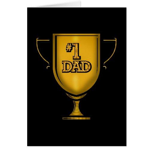 Regalos del papá del número uno para él tarjeta de felicitación