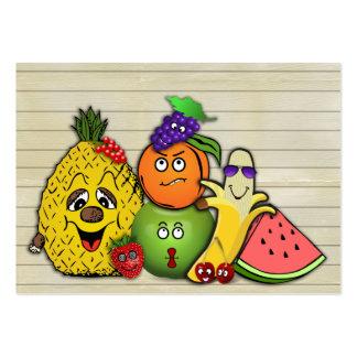 regalos del papershop de las frutas solamente tarjetas de visita grandes