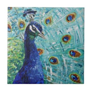 Regalos del pavo real apenas para usted nuestro azulejo cuadrado pequeño