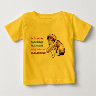 Regalos del perrito del collie playera de bebé