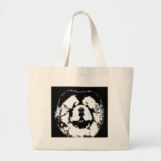 Regalos del perro chino de perro chino - bolso bolsa tela grande