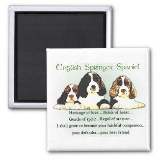 Regalos del perro de aguas de saltador inglés imán cuadrado