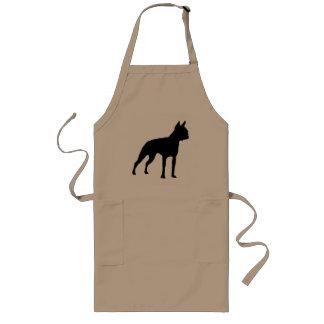 Regalos del perro de Boston Terrier negro Delantal
