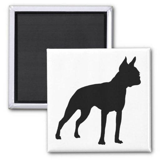Regalos del perro de Boston Terrier (negro) Imán De Nevera