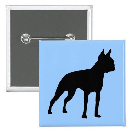 Regalos del perro de Boston Terrier (negro) Pins