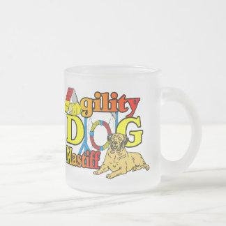 Regalos del perro de la agilidad del mastín taza de cristal