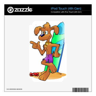 Regalos del perro de la resaca iPod touch 4G skin