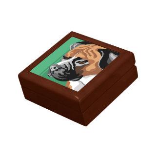 Regalos del perro del boxeador caja de recuerdo
