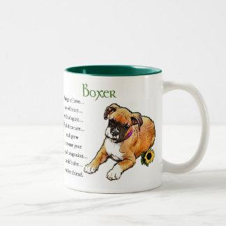Regalos del perro del boxeador taza