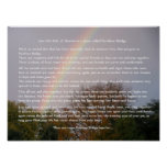Regalos del personalizable del poema del puente de poster