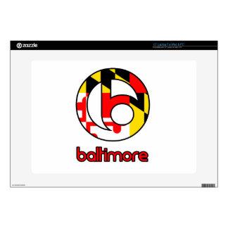 Regalos del personalizado de Baltimore Portátil 38,1cm Skins