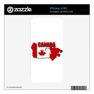 REGALOS DEL PERSONALIZADO DE CANADÁ CALCOMANÍA PARA EL iPhone 4