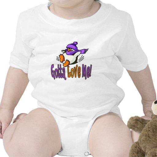 Regalos del pingüino de la diversión traje de bebé