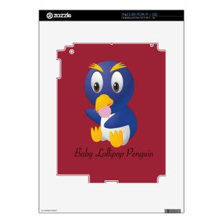 Regalos del pingüino del Lollipop del bebé para Calcomanía Para iPad 2