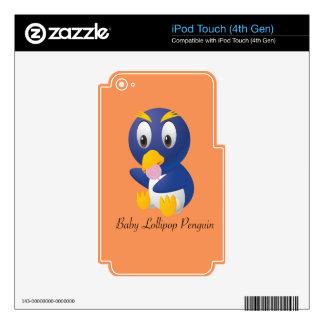 Regalos del pingüino del Lollipop del bebé para Calcomanía Para iPod Touch 4G