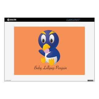Regalos del pingüino del Lollipop del bebé para Skins Para Portátiles